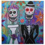 DIA DE LOS MUERTOS WEDDING PRINTED NAPKIN