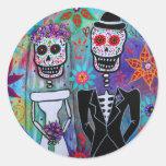 DIA DE LOS MUERTOS WEDDING STICKERS