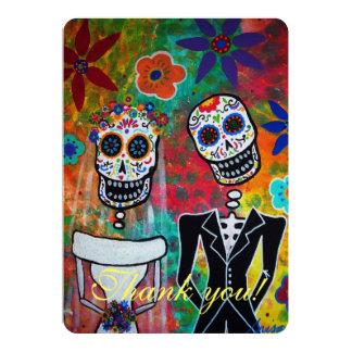 DIA DE LOS MUERTOS WEDDING THANK YOU CARD