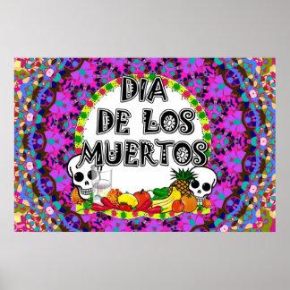 Dia De Los Muertos Wild Colors Poster