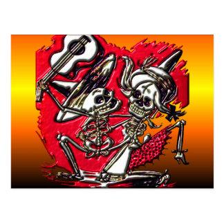 Dia de Los Muetos - día de los muertos Tarjetas Postales