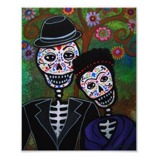 Día de los pares del boda de la pintura muerta fotografías