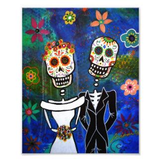 Día de los pares del boda de la pintura muerta fotografía