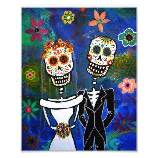 Día de los pares del boda de la pintura muerta cojinete