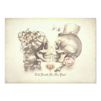 Día de los pares del cráneo del fiesta de invitación 12,7 x 17,8 cm
