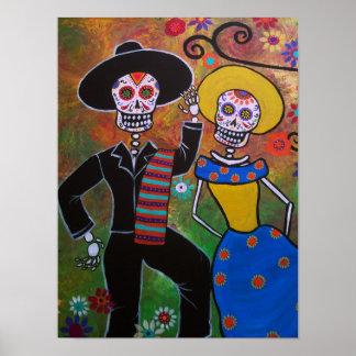 Día de los pares muertos del baile póster