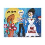 Día de los pares muertos del boda lona envuelta para galerias