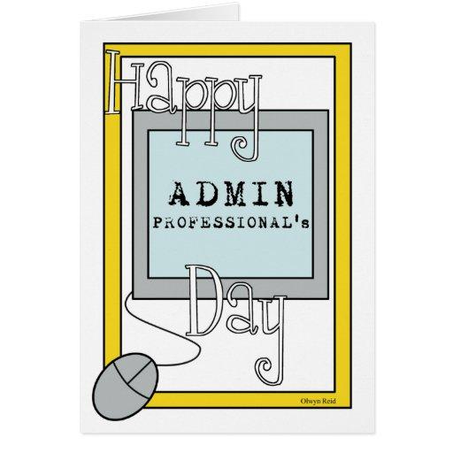 Día de los profesionales del Admin con el ordenado Tarjetas