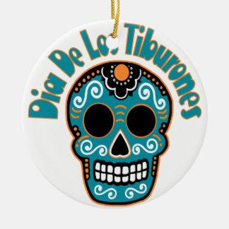 Dia De Los Tiburones.png Ceramic Ornament