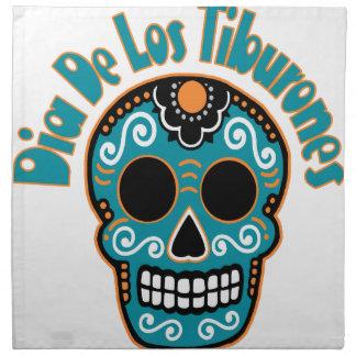 Dia De Los Tiburones.png Cloth Napkins