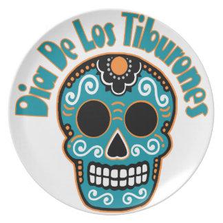 Dia De Los Tiburones.png Party Plate