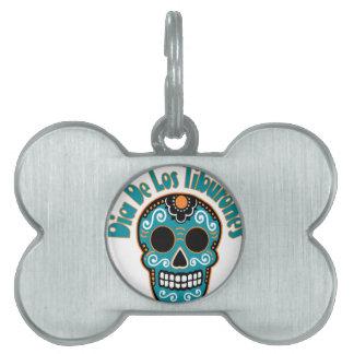 Dia De Los Tiburones.png Pet Name Tag