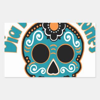 Dia De Los Tiburones.png Rectangular Sticker
