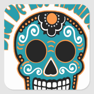 Dia De Los Tiburones.png Square Stickers