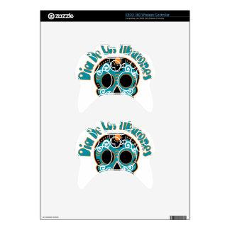 Dia De Los Tiburones.png Xbox 360 Controller Decal