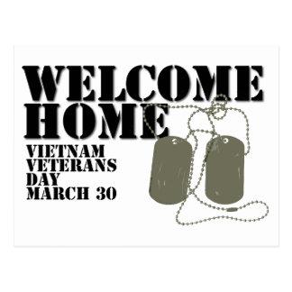 Día de los veteranos casero agradable de Vietnam Postales