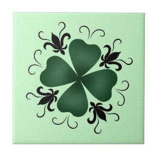 Día de lujo del St Patricks del trébol del Azulejo
