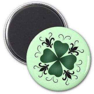 Día de lujo del St Patricks del trébol del Imán Para Frigorífico