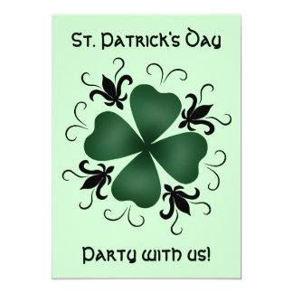 """Día de lujo del St Patricks del trébol del Invitación 5"""" X 7"""""""