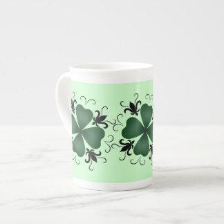 Día de lujo del St Patricks del trébol del Taza De Porcelana