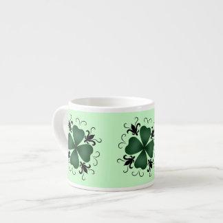 Día de lujo del St Patricks del trébol del Taza Espresso