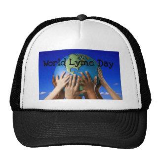 Día de Lyme del mundo Gorros Bordados