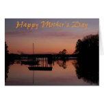 Día de madres de la puesta del sol tarjetón