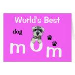 Día de madres del perro tarjeta