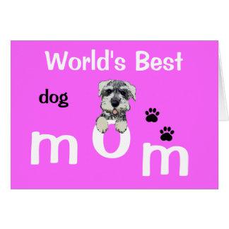 Día de madres del perro tarjeta de felicitación