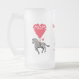 Día de madres divertido personalizado de la cebra taza de café