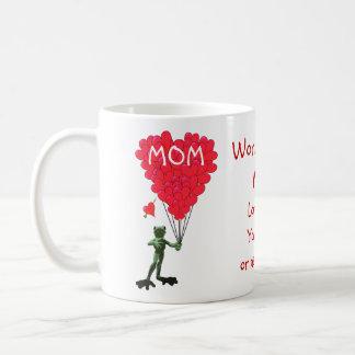 Día de madres divertido personalizado de la rana taza de café