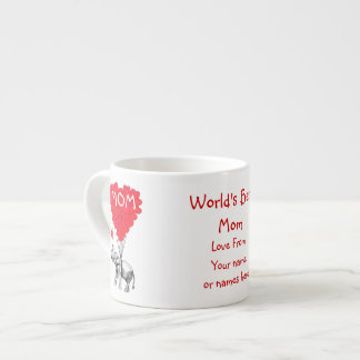 Día de madres divertido personalizado tazitas espresso