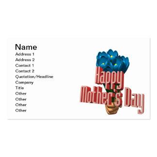 Día de madres feliz 3 tarjetas de visita