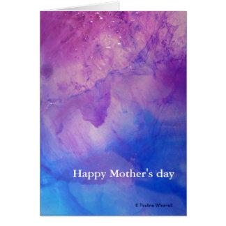 Día de madres feliz abstracto floral del © P Wherr Tarjeton