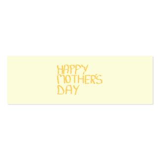 Día de madres feliz. Amarillo Tarjetas De Visita Mini