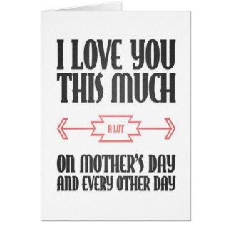 Día de madres feliz: Ámele mucho tarjeta de felici