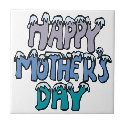 Día de madres feliz azulejo cuadrado pequeño