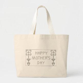 día de madres feliz bolsa tela grande