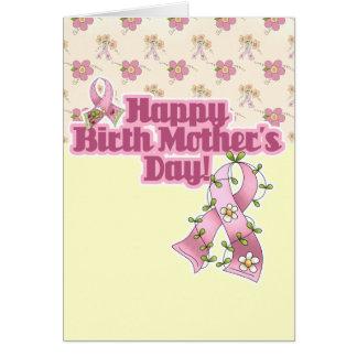 Día de madres feliz de nacimiento tarjeta de felicitación
