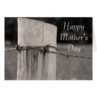 Día de madres feliz del país del poste rural de la tarjeta de felicitación