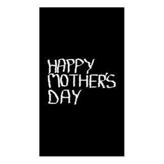 Día de madres feliz. En blanco y negro. Tarjetas De Visita