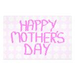 Día de madres feliz. Estampado de plores rosado Flyer A Todo Color