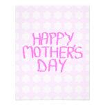 Día de madres feliz. Estampado de plores rosado. P Anuncio