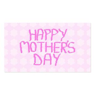 Día de madres feliz. Estampado de plores rosado Tarjetas De Visita