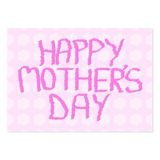 Día de madres feliz. Estampado de plores rosado Plantillas De Tarjetas Personales
