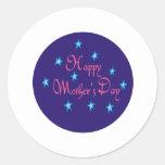 Día de madres feliz etiqueta redonda