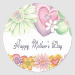 Día de madres feliz etiquetas redondas