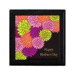 Día de madres feliz floral cajas de joyas