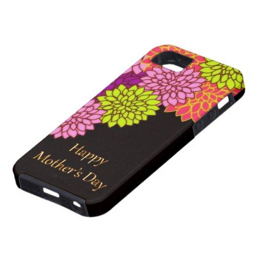 Día de madres feliz floral iPhone 5 carcasa