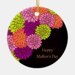 Día de madres feliz floral ornatos